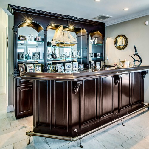 Traditional Bar Cabinetry
